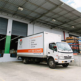 Image of 1300 donate truck