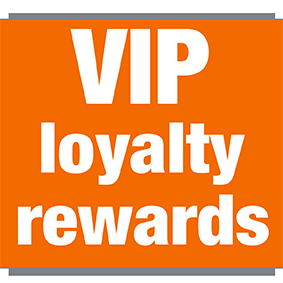 Image with writing 'VIP loyalty rewards'